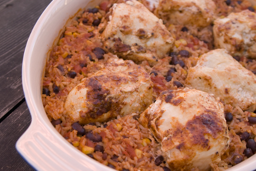 Chicken with Black Beans and Rice