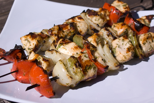 Herby Greek Chicken Kebobs