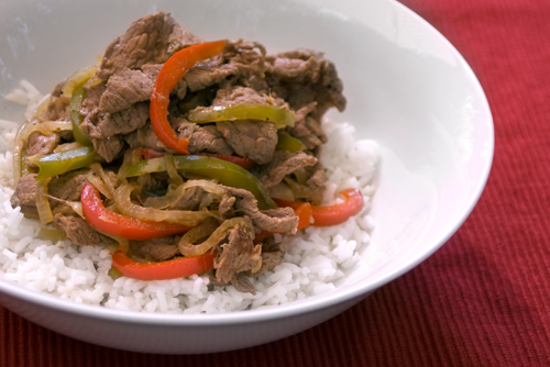 Stir-Fried Beef and Onions (and Peppers)