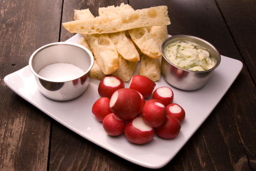 Chive Butter and Radishes