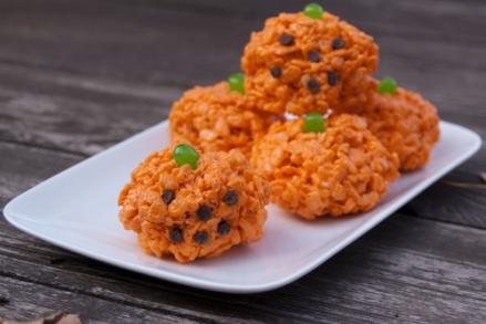 Rice Krispie Jack-o-Lanterns